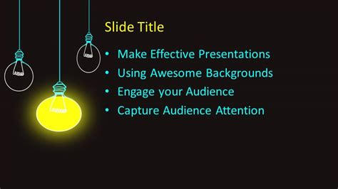 Free Hanging Lamps PowerPoint Template - Free PowerPoint