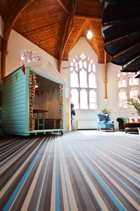 Inside Quantum Marketing's Renovated-Church Offices