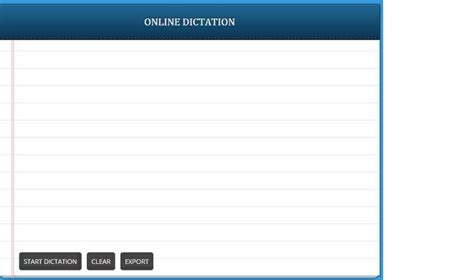 Dictation is a Chrome App for voice recognition dictation