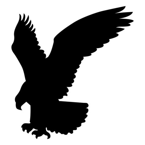 Eagle catching silhouette - Transparent PNG & SVG vector file