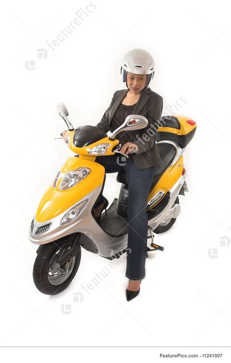 Picture Of Woman Riding Scooter
