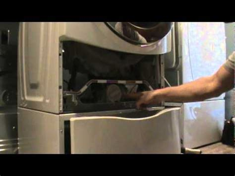 front load washer won't spin out clothes, pump cleanout
