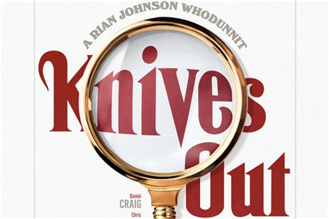The First Poster for Rian Johnson's Knives Out Looks Sharp